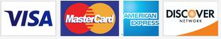 visa mastercard amex discover cards accepted